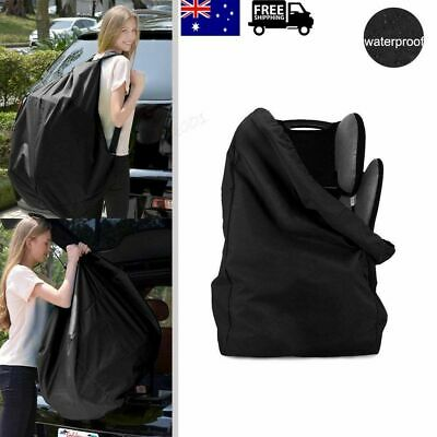 Black Car Baby Child Safety Seat Bag Cover Waterproof Travel Bag Convenient AU
