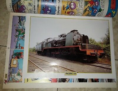 SPIROU 3097 de 1997 - fiche PACIFIC 10 train locomotive