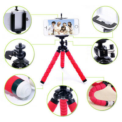Portable Flexible Adjustable Tripod Stand Holder Mount for Cell Phone Camera