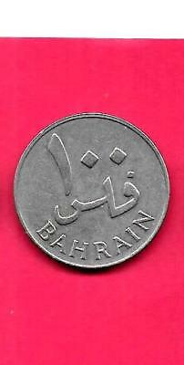 Bahrain Km6 1965 100 Fils Vf-Very Fine-Nice Old Vintage Coin