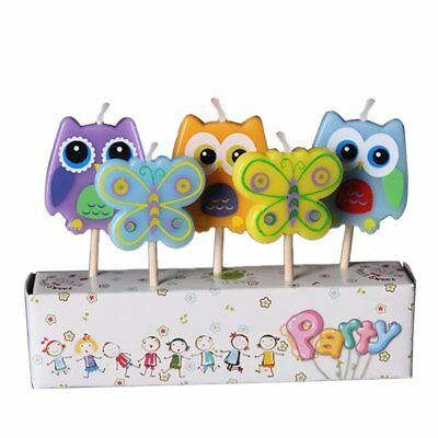 Butterlies/Owls and Flower Party Candles - 16 Packs of 5pcs