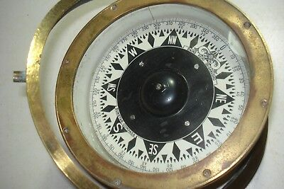 Antique Large Brass Ship's Compass Sunstar Maritime