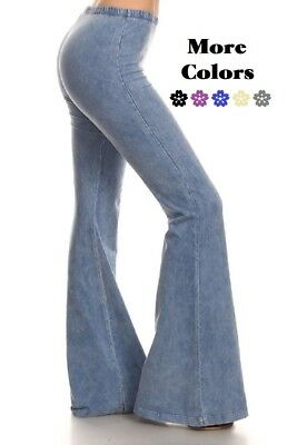 d0e6905bed8 PLUS SIZE HIPPIE Bell Bottom Stretchy Flare Pull On   Elastic Waist ...