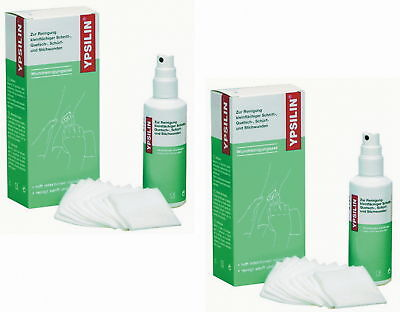 2 X  Ypsilin Wunddesinfektion Antiseptikum a 50 ml Fluid + 10 Tücher  jodfrei