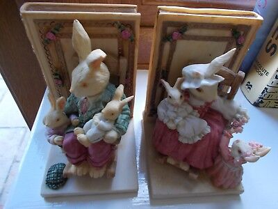 Bunny Tales Ceramic Book Ends