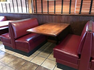 Diner Booth Set - Used -  Restaurant Seating Bran