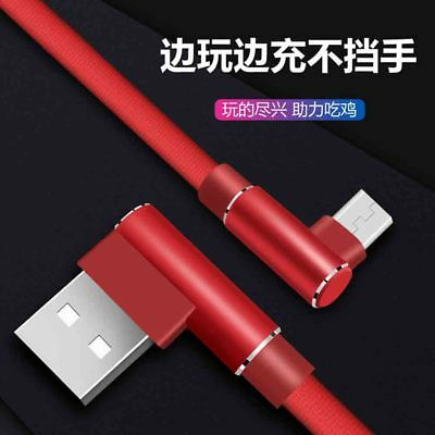 iPhone 6 7 8 X Xs 90 Degree L Shape Nylon Fast Charging Charger USB Cable Cord