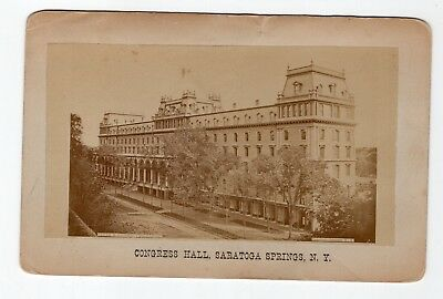 1876 Cabinet Card Congress Hall Hotel, Saratoga Springs, New York