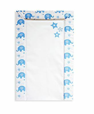 Baby Changing Mat Padded Re-Usable, Soft & Comfortable First Steps Blue Elephant