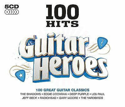 100 Hits Guitar Heroes 5-CD Box Set NEW SEALED UFO/Great White/T.Rex/April Wine+