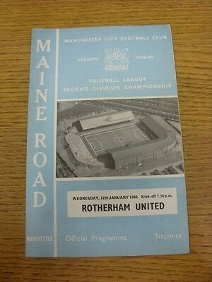 12/01/1966 Manchester City v Rotherham United  (token removed, team changes). Th