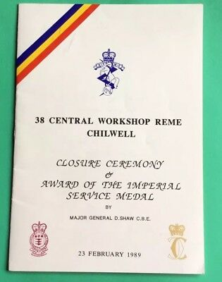Chilwell Nottingham Army R.E.M.E. Closure Ceremony 1989 Imperial Service Medal