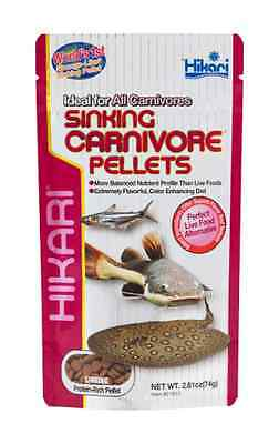 Hikari Sinking Carnivore Pellets 74g for Catfish Plecos Bottom Feeder