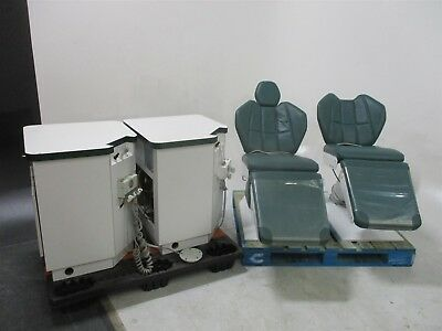 Dexta Operatory Package Lot of 2 Dexta Dental Exam Patient Chairs w/ Cabinetry