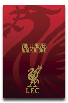 Laminated Liverpool FC PosterLiverbird Crest New