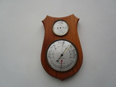Vintage Weathermaster Barometer Thermometer & Hygrometer On Wooden Plinth