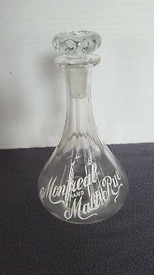 Montreal Malt Rye Glass Decanter
