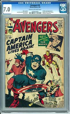 Avengers #4 CGC 7.0 (C-OW) 1st Silver Age Captain America