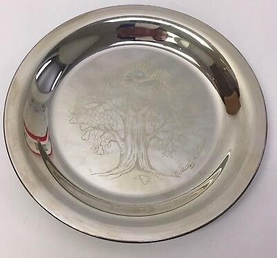 Vintage Sterling Silver Plate 1974  The Partridge In a Pear Tree By Jacalyn Liss