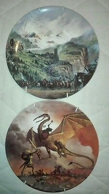 Assiette Le Seigneur Des Anneaux the lord of the rings platte by ted Nasmith