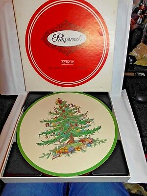Place Mats Acrylic Round  Place Mats By Pimpernel Christmas Tree Design  6 Boxed