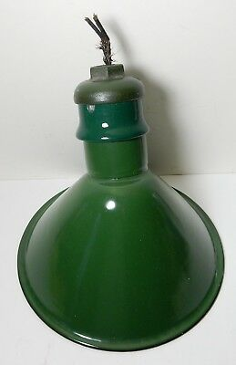 OLD NICE WESTINGHOUSE GREEN PORCELAIN INDUSTRIAL LIGHT LAMP SHADE W/ SOCKET Etc