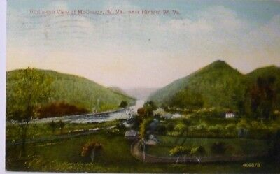 Bird's Eye View of McCreery W Va near Hinton WV Red Lettered