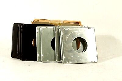 lot of 10 lens boards for Speed/Crown Graphic 4x5 press cameras