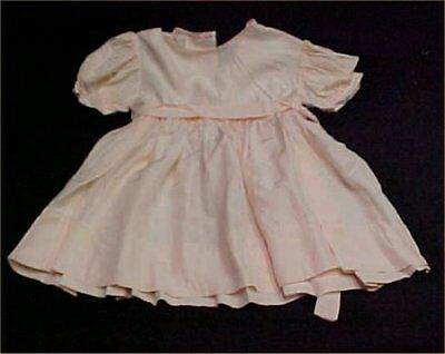 Vintage Antique Doll Baby Dress Little Girl Rayon Smocking Embroidery 1940s Era