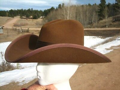 Western Stetson American Buffalo Collection Cowboy Hat  6 - 7/8 Buffalo Felt B