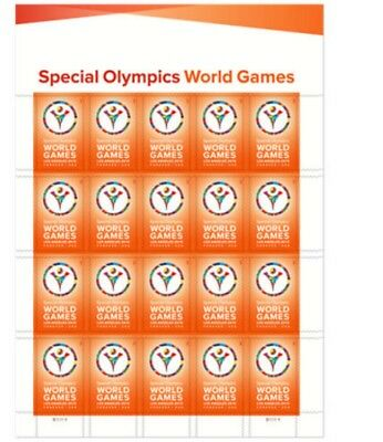 Brand New  - USPS Forever Stamps - Special Olympics World Games - 1 sheet of 20