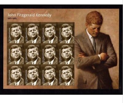 Brand new - USPS John Fitzgerald Kennedy Forever Stamps 1 Sheet of 12