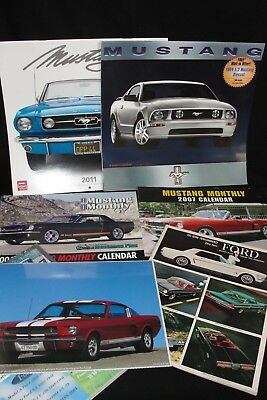 Lot Of Collectible Ford Mustang Items 1963 Ford Car Dealer Brochure 3 Calendars
