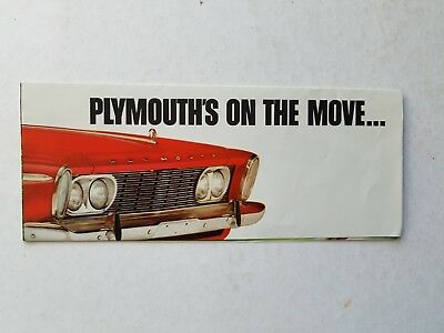 Vintage BROCHURE CATALOG 1963 Plymouth Valiant Chrysler