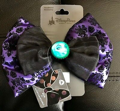 NEW from Disney Parks - HAUNTED MANSION BOW- Clip-on to a Headband Ears/Barrette