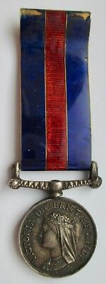 Miniature Medal - Miniature New Zealand Medal 1869 with Enamel Riband