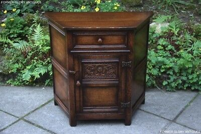 Titchmarsh And Goodwin Carved Oak Canted Cabinet Sideboard Dresser Base Table