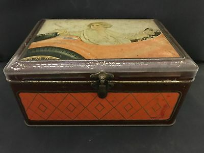 Vintage Arnott Biscuit Tin with Flapper Girl (100)