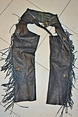 Harley-Davidson® Motorcycle pants Womens Willie G Fringed Leather Chaps M