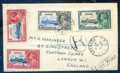 Grenada 1935 Silver Jubilee registered first day cover (2019/01/14#10)