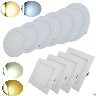 3W 6W 9W 12W 18W 24W Dimmable LED Panel Ceiling Recessed Light Warm/Natural/Cool