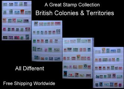 Stamp Collection British Colonies Malaya Ceylon Jamaica Nigeria Bermuda Barbados