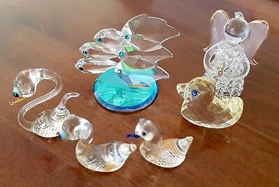 Vintage Group Of Glass Animals Murano Hadrian Crystal