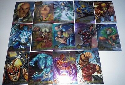 1995 FLEER ULTRA X-MEN TRADING CARDS x 14 Professor X/Strong Guy/Havok etc