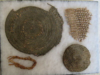 Very Nice Lot Of Four Old Nevada Basket Pieces With Docs--Nr!