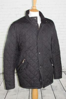 Men's Barbour Chelsea Sports Quilted Jacket Coat Terrace Casuals Black Large