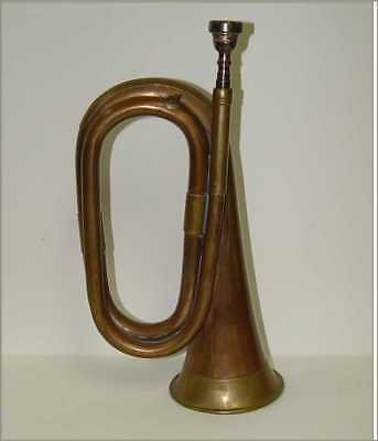 Vintage Copper Brass Military School Bugle Sounds Great