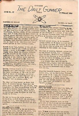 """The Daily Gunner WWII Newsletter Feb.18,1945 U.S. Marines """"Somewhere In Germany"""""""