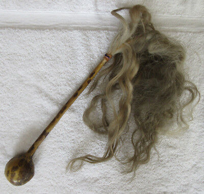 Very Nice Hide & Horse Hair Head Knocker--Nr!