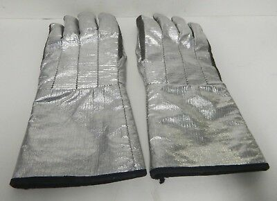 Aluminized Proximity Gloves Turnout Gear Firefighter Equipment Size Medium #3